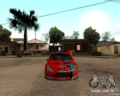 Peugeot 307 WRC para GTA San Andreas vista direita