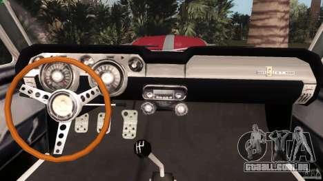 Ford Shelby GT500 para GTA Vice City vista direita