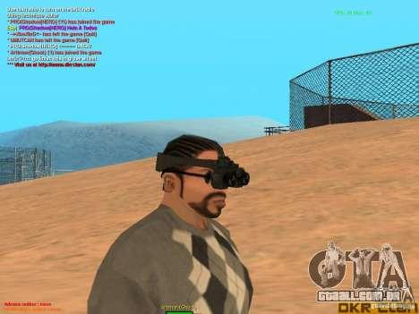 Thermal Goggles para GTA San Andreas segunda tela