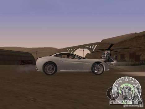 Ferrari California v1 para GTA San Andreas esquerda vista