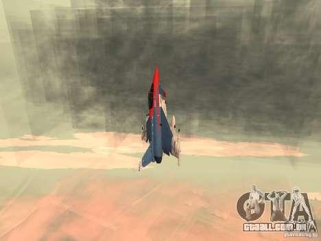 Eurofighter Typhoon para GTA San Andreas traseira esquerda vista