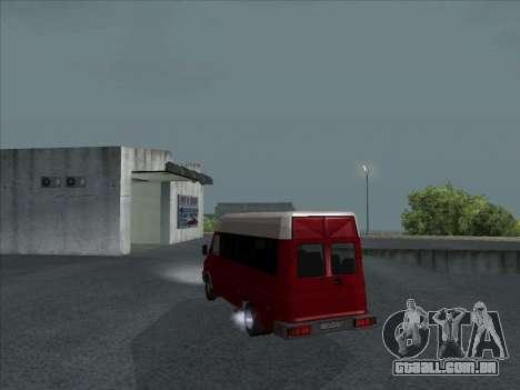 Iveco TurboDaily 35-10 para GTA San Andreas traseira esquerda vista