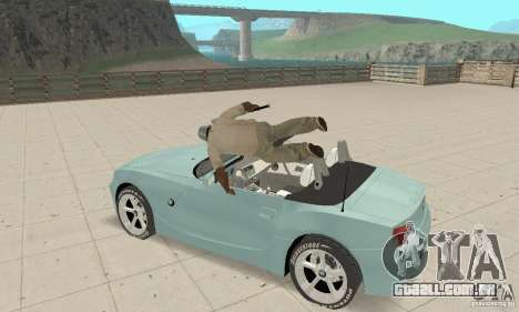BMW Z4 Roadster 2006 para GTA San Andreas vista interior