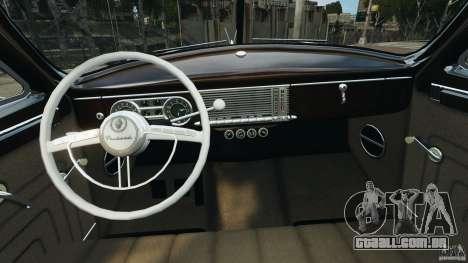 Packard Eight 1948 para GTA 4 vista interior