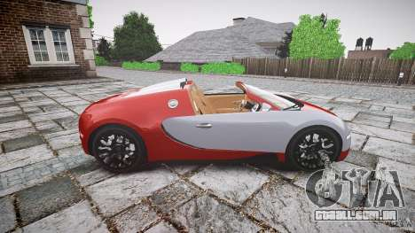 Bugatti Veyron Grand Sport [EPM] 2009 para GTA 4 esquerda vista