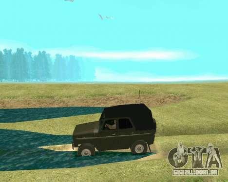UAZ 31512 para GTA San Andreas vista traseira