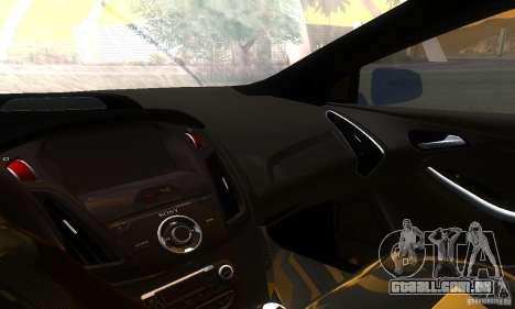 Ford Focus 3 para GTA San Andreas vista interior