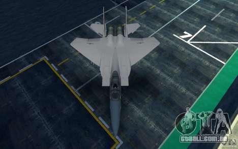 F-15 para GTA San Andreas traseira esquerda vista