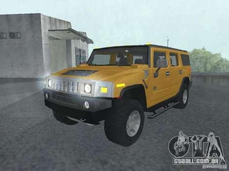 HUMMER H2 Tunable para GTA San Andreas