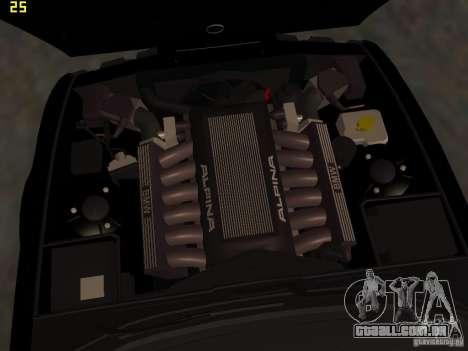 BMW E34 Alpina B10 Bi-Turbo para GTA San Andreas vista superior