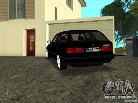 BMW E34 535i Touring para GTA San Andreas esquerda vista