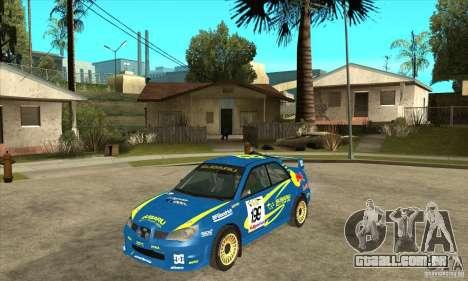 Subaru Impreza STi WRC wht2 para GTA San Andreas traseira esquerda vista