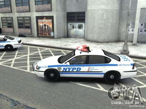 Chevrolet Impala NYCPD POLICE 2003 para GTA 4 esquerda vista