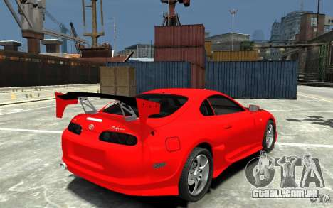 Toyota Supra Black Tuning para GTA 4 vista direita