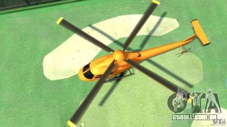 Helicopter From NFS Undercover para GTA 4 vista de volta