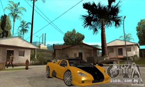 SSC Ultimate Aero FM3 version para GTA San Andreas vista traseira