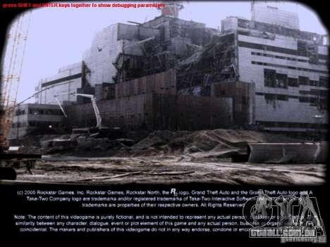 Telas de carregamento Chernobyl para GTA San Andreas segunda tela