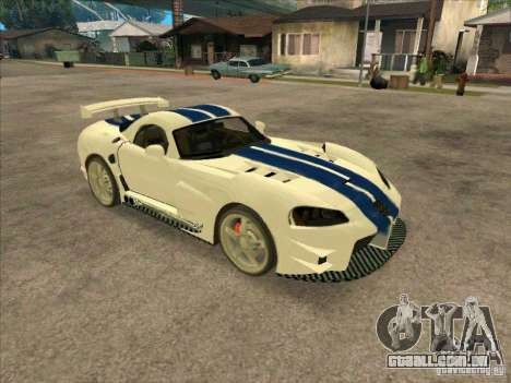 Dodge Viper from MW para GTA San Andreas esquerda vista