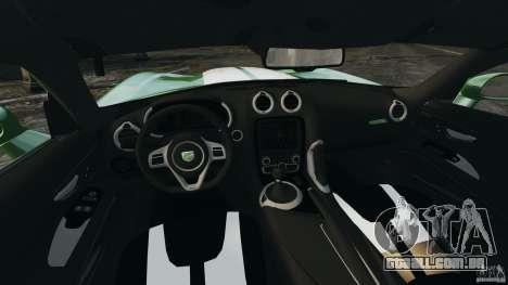 SRT Viper GTS 2013 para GTA 4 vista de volta