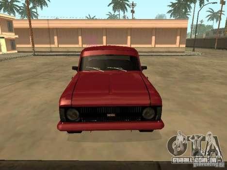 IE AZLK 412 para GTA San Andreas traseira esquerda vista