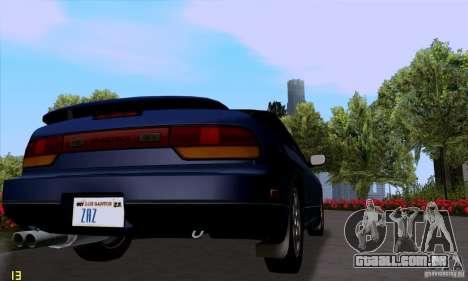 Nissan SX 240 Full Stock para GTA San Andreas traseira esquerda vista