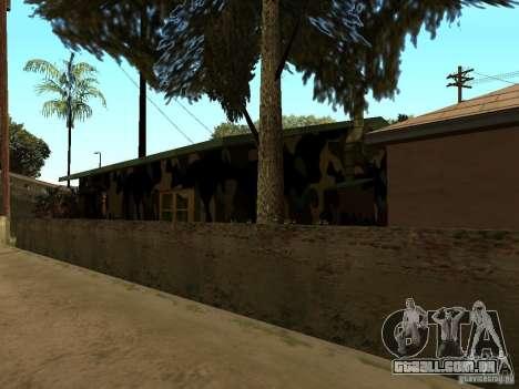 Casa nova de Denis para GTA San Andreas quinto tela
