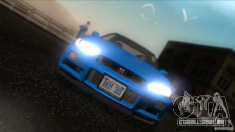 Nissan Skyline GTR-34 para vista lateral GTA San Andreas