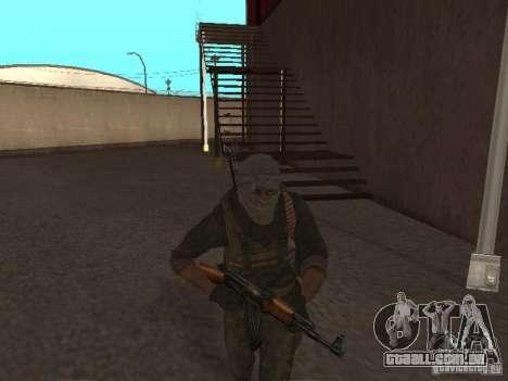Dušman 2 do COD4MW para GTA San Andreas por diante tela