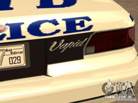 A polícia de GTA4 para GTA San Andreas vista inferior