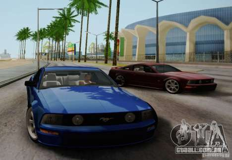 Ford Mustang Twin Turbo para GTA San Andreas vista direita