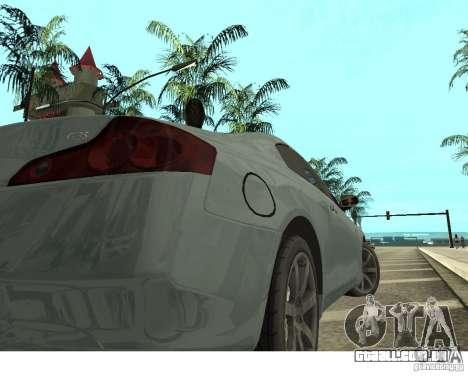 Infiniti G35 Coupe para GTA San Andreas traseira esquerda vista