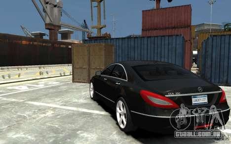 Mercedes-Benz CLS 350 para GTA 4 traseira esquerda vista
