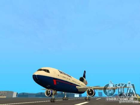 McDonell Douglas DC10 British Airways para GTA San Andreas
