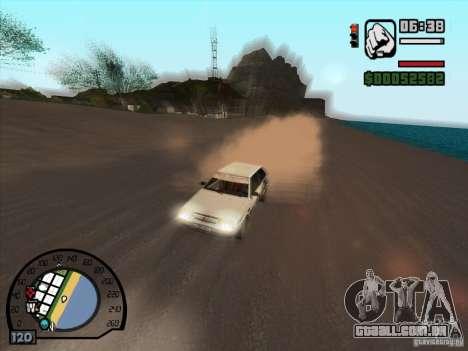 Fumaça saindo debaixo das rodas, como no NFS Pro para GTA San Andreas terceira tela