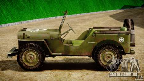 Jeep Willys [Final] para GTA 4 vista lateral