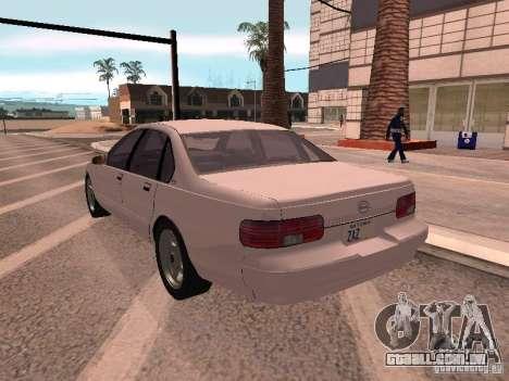 Chevrolet Impala SS 1995 para GTA San Andreas esquerda vista