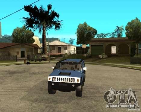 AMG H2 HUMMER para GTA San Andreas vista traseira