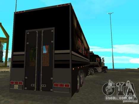 Custom Kenworth w900 - Custom - Trailer para GTA San Andreas vista superior