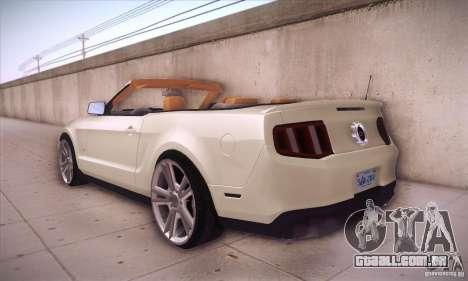 Ford Mustang 2011 Convertible para GTA San Andreas traseira esquerda vista