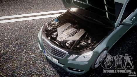 Mercedes-Benz E63 2010 AMG v.1.0 para GTA 4 vista inferior