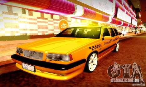 Volvo 850 R Taxi para GTA San Andreas vista interior