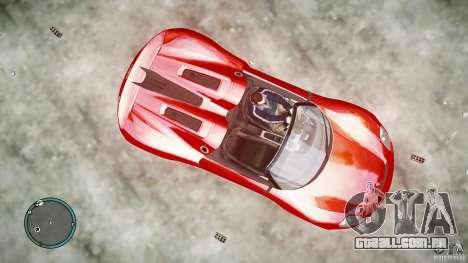 Porsche 918 Spyder Concept para GTA 4 traseira esquerda vista