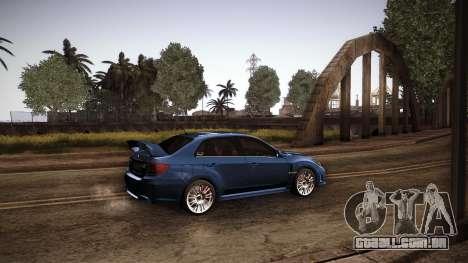 Subaru Impreza WRX STi 2011 para GTA San Andreas esquerda vista