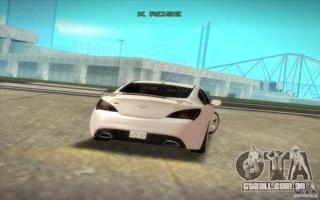 Hyundai Genesis 3.8 Coupe para GTA San Andreas vista traseira