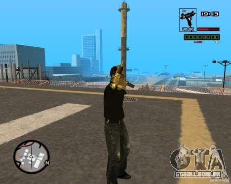 Micro Uzi Gold para GTA San Andreas por diante tela