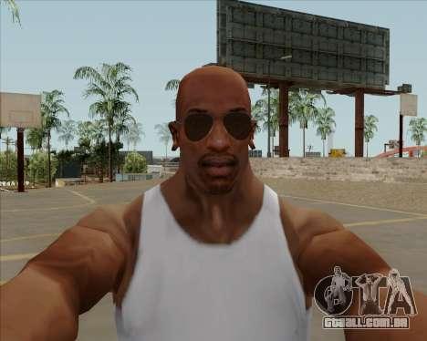 Óculos marrom aviadores para GTA San Andreas terceira tela
