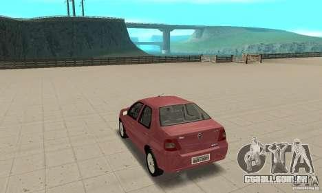 Fiat Siena HLX 1.8 Flex para GTA San Andreas esquerda vista