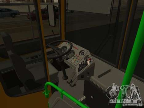 LIAZ 5256.26-01 para GTA San Andreas vista interior