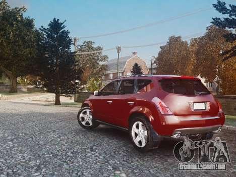 Nissan Murano Ti Z50 para GTA 4 esquerda vista
