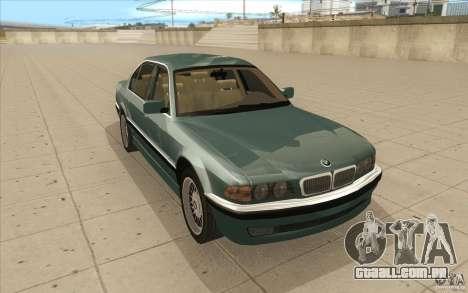 BMW 750iL 1995 para GTA San Andreas vista traseira